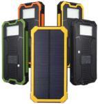 PRC Solar napelemes Power Bank LED lámpával dual USB kimenettel 10000mAh