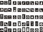 Csillámtetoválás SABLON készlet - 50 darabos
