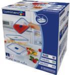 Luminarc Set de recipiente din sticlă pentru alimente Luminarc Pure Box 3 bucăți, dreptunghiulare
