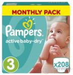 Pampers Active Baby-Dry 3 Midi (4-9kg) 208db