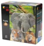 Riviera Games Vadállatok (The Animals) 3D puzzle 48 db-os P3D04