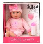 Dolls World Beszélő és alvó puha baba rózsaszín ruhában, 38 cm - Dolls World babák