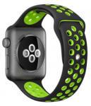 iUni Curea pentru Apple Watch 38 mm Silicon Sport iUni Black-Green