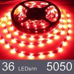 1m Червена - LED лента SMD 5050, 36 LEDs 8W/m HQ, 1 метър