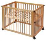 Easy Baby Pat Sleep & Play Natur cu Saltea si Cearsaf (700-22)