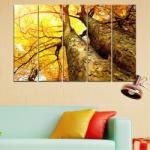 Vivid Home Картини пана Vivid Home от 5 части, Гора, Канава, 160x100 см, 2-ра Форма №0762