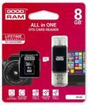 GOODRAM MicroSDHC 8GB Class 10 M1A5-0080R11