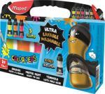 """Maped Vízfesték, palackos, 5x75 ml, """"ultra-washable"""", MAPED, fluoreszkáló + metál színek (IMA810012) - webpapir"""