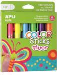 """APLI Tempera stift készlet, toll alakú, APLI """"Kids"""", 6 különböző fluoreszkáló szín (LCA14404) - webpapir"""