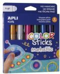 """APLI Tempera stift készlet, toll alakú, APLI """"Kids"""", 6 különböző metál szín (LCA14405) - webpapir"""