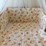 Kismacis ágynemű szett babáknak kiságyba
