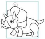Amos Kifesthető műanyag kép S-es méret - Triceratops (AMOS562345/10)