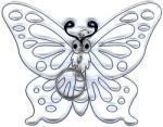 Amos Kifesthető műanyag kép M-es méret - Pillangó (AMOS562352/1)