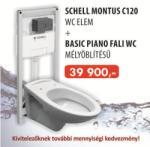 SCHELL Montus C120 + Basic Piamo fali wc