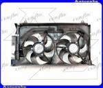 """Citroen ZX 1991.03-1997.12 Hűtőventilátor dupla, kerettel """"klímás, benzines"""" (vezeték nélkül) V0936749"""