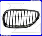 BMW 5 E60, 61 2003.03-2010.10 Hűtődíszrács bal, krómkerettel, fekete bordákkal V0655515