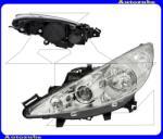 PEUGEOT 207 2006.06-2013.06 Fényszóró bal projektoros (2xH7/H1) motorral TYC 20-1062-05-2