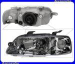 Daewoo KALOS 2003.01-2007.12 /T200, KLAS/ Fényszóró bal index nélkül (H4) kézi/elektromos állítású is. DEPO 235-1102L-LD-EM