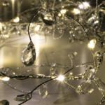 Home LED-es gyöngy fényfüzér - melegfehér (KLG 25)