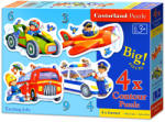 Castorland PEP-5000 4 az 1-ben sziluett puzzle - Izgalmas munkák 3,4,6,9 db-os (B-005055)