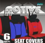 Unicspot Active üléshuzat szett 6 db-os kék-fekete