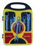 Тресчотни звездогаечни ключове с чупещо рамо 8-19mm ANTON (Тресчотни ключове с чупещо рамо ANTON)