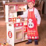 Eurekakids Bucătărie completă din lemn cu pisicuță Bucatarie copii