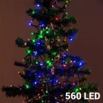 Greensite Karácsonyi fényfüzér 560 LED-es - színes - 14 m (8711295336362)