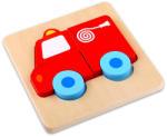 Tooky Toy Tűzoltóautó mini fa puzzle (TKG009)