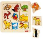 Goki Joc puzzle de asociere Casutele animalelor 2 (GOKI56725) Puzzle