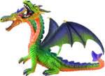 Bullyland Dragon Verde Cu 2 Capete (75596) Figurina