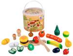 Happy People Vágható fa élelmiszerek dobozban - 30 darabos