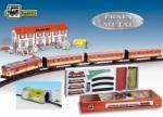 Pequetren Trenulet electric calatori cu statie si tunel (SE8412514005167) Trenulet