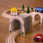 Bigjigs Toys Tunel din lemn (BJT120) Trenulet