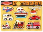 Melissa & Doug Hangot adó puzzle 8 db-os - járművek (MD10725)