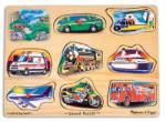 Melissa & Doug Hangot adó puzzle 9 db-os - járművek (MD10267)