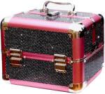 Műkörmös táska, kicsi fekete-rózsaszín