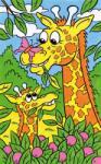 Mammut Desen pe Numere Girafa Carte de colorat