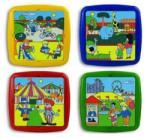 Miniland Set de 4 puzzle - Timpul liber (ML35510)