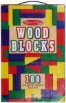 Melissa & Doug Cuburi din lemn colorate (MD0481)