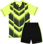 Детски футболен екип фланелка с шорти зелено и черно