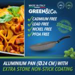 GREEN&Co. Extra Stone Serpenyő 24cm (GCO-002)