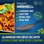 GREEN&Co. Extra Stone Serpenyő 28cm (GCO-003)