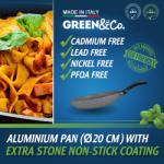GREEN&Co. Extra Stone Serpenyő 20cm (GCO-001)