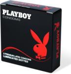 Playboy Condoms Dotted pontozott felületű óvszer 3db