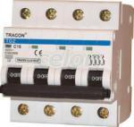 Tracon Electric Siguranţă automată, 4 poli, curba caracteristică B - 6A, 6kA TDZ-4B-6 - Tracon (TDZ-4B-6)