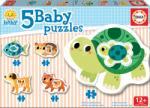 Educa Puzzle pentru cei mici Baby 5 Educa - Animale cu broaşte ţestoase de la 12 luni (EDU17573)