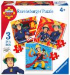 Ravensburger Sam, a tűzoltó 3 az 1-ben puzzle 110 db-os (070657)