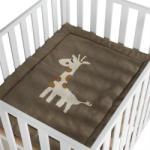 Quax Paturica crosetata pentru casa si excursii 80X100 cm Giraffe - bebefast Lenjerii de pat bebelusi, patura bebelusi