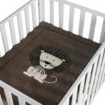 Quax Paturica crosetata pentru casa si excursii 80X100 cm Lion - bebefast Lenjerii de pat bebelusi, patura bebelusi